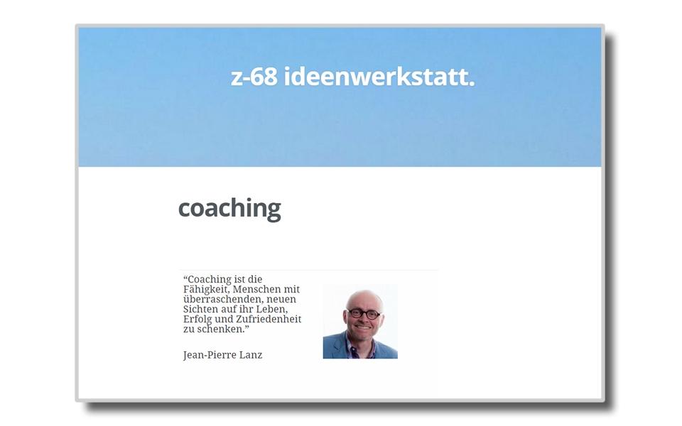 Jean-Pierre Lanz | Wohncoaching | z-68 Ideenwerkstatt