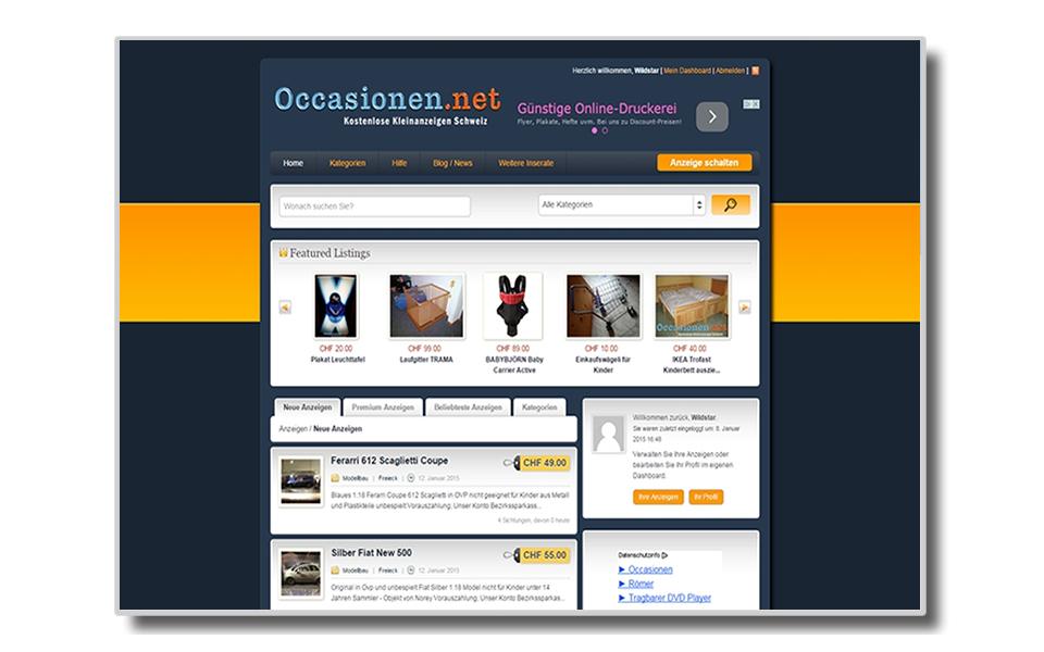 Occasionen.net | ClassiPress | Kleinanzeigenmarkt | Kleinanzeigenportal